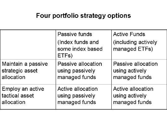 Four portfolio strategy options