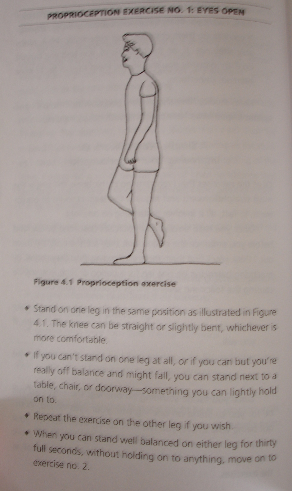 Prioprioception exercise- eyes open