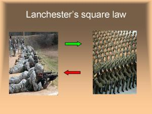 Lanchester's square law