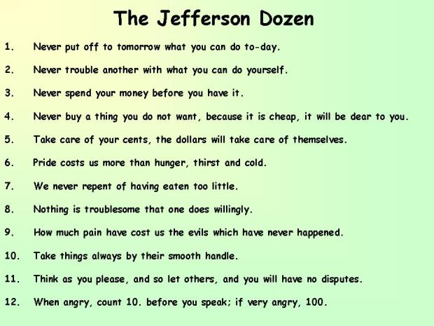 The Jefferson Dozen
