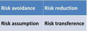 Risk management quadrant